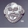 308 Agamemnon mask brooch