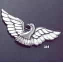 374 silver dove brooch