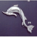 375 Large dolphin brooch