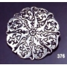 376 Ornate round brooch