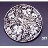 377 Ornate brooch round grapevine/Vine leaves