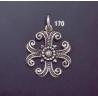 170 Ornate Silver Byzantine Cross