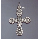 173 Silver Byzantine/Knights Templar Cross pattée