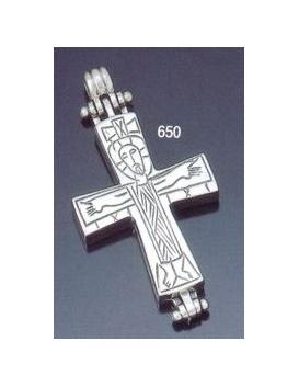 650 Reliquary Cross Pendant