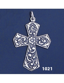 1021 Ornate Byzantine Cross ( L )