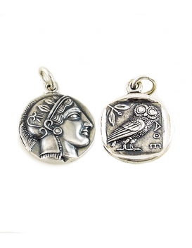 605 Athens tetradrachm, Athena & Wise Owl, silver coin of Athens (Greek Jewelry Shop)