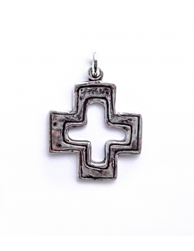 27 Byzantine imperfect cross - (Greek Jewelry Shop) Sterling silver religious crosses