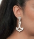668 Large grecian/Greek 'anchor' design earrings from silver