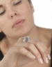 Silver Ram head Aries ring