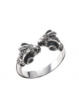 Ram ring silver