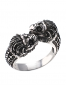 37/A Double headed lion torc ring - MENS sizing