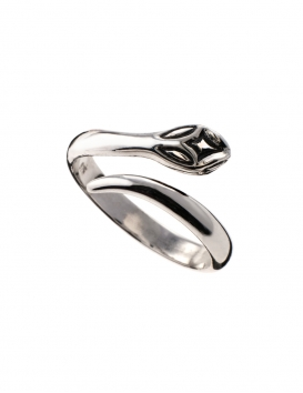 265/S Sterling silver Minoan snake ring