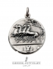 15/ME Greek solid silver coin pendant / necklace reverse with galloping horses