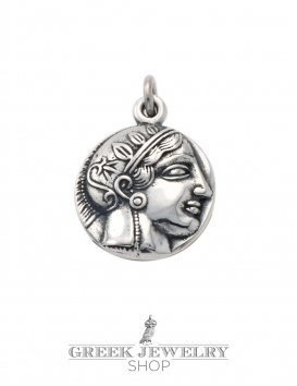 309 Athens tetradrachm, Goddess Athena pendant in sterling silver
