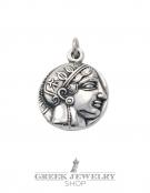 309 Athens tetradrachm, Athena & Wise Owl coin pendant