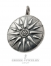 613 Macedonia Star/Sun/Starburst pendant XL