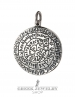Large Silver Greek Phaistos disc pendant from Greek Jewelry Shop