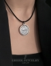 Byzantine silver coin Pendant. Sterling silver Jesus pendant with Byzantium coin
