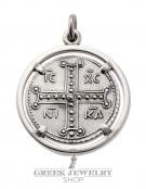 787 Byzantine Jesus Christ coin pendant