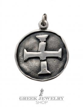 A100 Masters of poitou masonic seal & templar cross (cross pattée)
