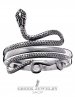 Snake goddess bracelet. Silver serpent armlet by GreekJewelryShop.com