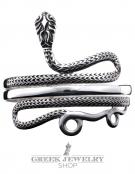 1 Hellenistic coiled snake silver Bracelet (Armlet)