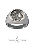 1101 Alexander the great chevalier coin ring M