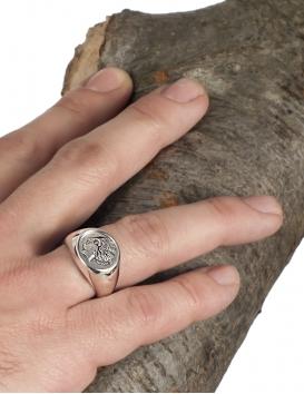 Venus Aphrodite graduated ancient Greek coin ring M