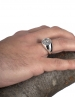 Rhodes island - city of Rhodes jewelry - Helios ancient sun god. Greek pinky (signet) coin ring