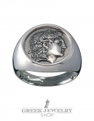 1112 Alexander the Great ancient greek coin ring L