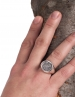 Greek Owl Of Wisdom silver coin ring