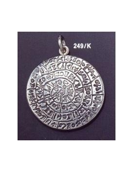 249/K X-Large Convex Phaistos disc pendant (39mm diameter)