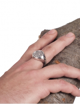 Zeus coin silver Greek coin ring for men