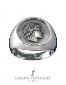 1118 Chalkidian League God Apollo chevalier coin ring (L)