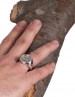 1120 Syracuse, Sicily charioteer crowned by Nike (victory) chevalier coin ring, (L)