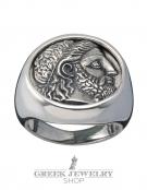 1126 Phillip II Macedon coin depicting Zeus chevalier ring (XL)