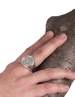 Large Mens Chevalier coin. Bacchus/Dionysus Nude Phallic satyr ring