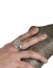 1142 Phaistos disc Chevalier Coin Ring (XL)