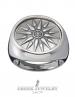 Silver Macedonia Star - Sun - Starburst Greek large Coin Ring