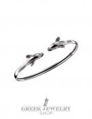 301 Sterling Silver Greek Dolphins Bracelet