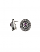 1283 Hellenistic earrings with rubies