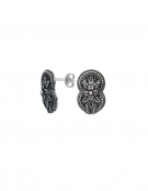 1265 Large Hercules-knot/Gordian knot sterling silver earrings