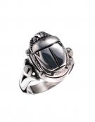 679DA Scarab Sterling Silver Band Ring