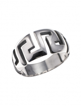 907 Greek Key/ Meander silver ring