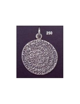 250 Large Flat Phaistos disc pendant (28mm diameter)