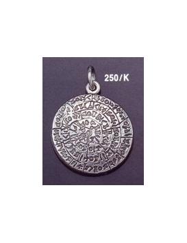 250/K Large Convex Phaistos disc pendant (29mm diameter)