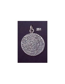 251 Medium flat Phaistos disc pendant (22 mm diameter)