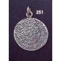251 Medium flat Phaistos disc pendant (22 mm diameter)