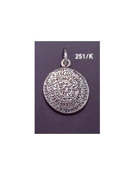 251/K Medium convex Phaistos disc pendant (23mm diameter)