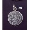 252 Small flat Phaistos disc pendant (17mm diameter)